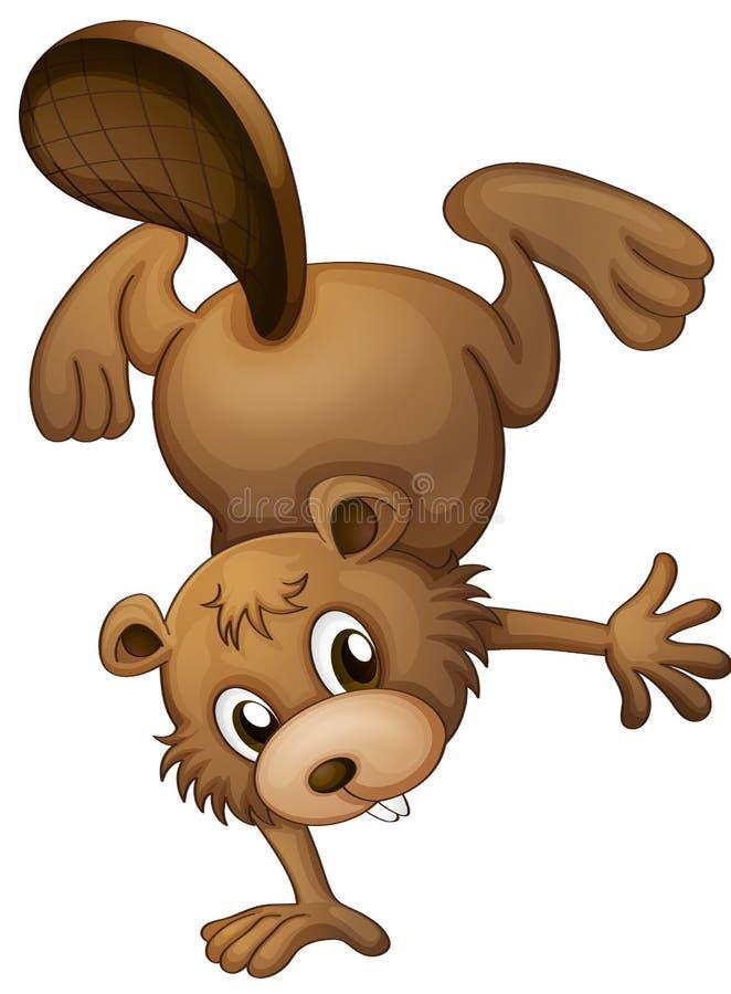 A playful beaver vector illustration