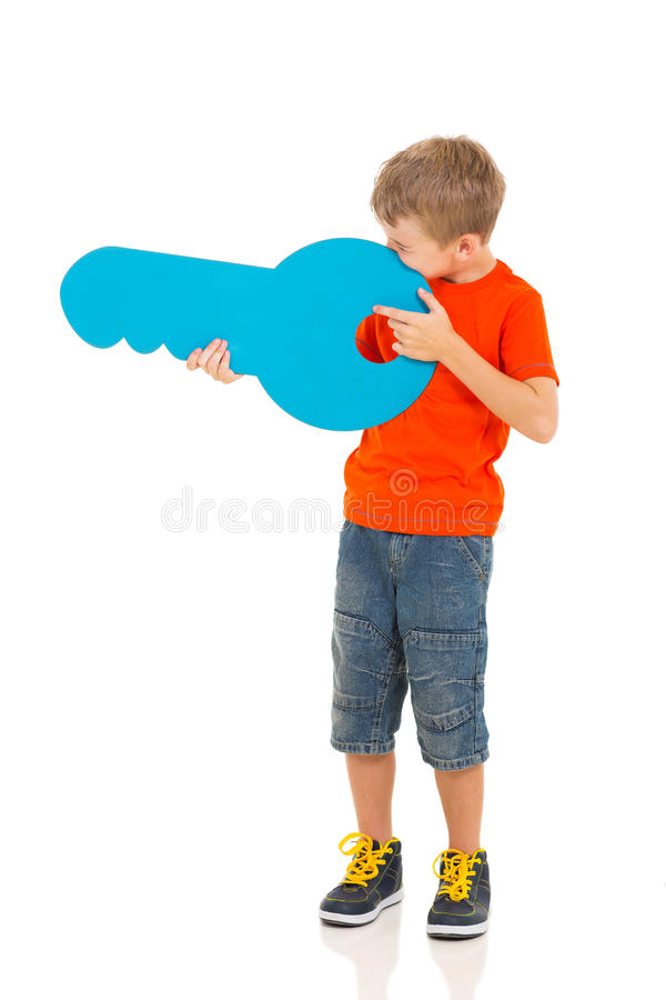 Download Playful Boy Key Stock Photo - Image: 40214827