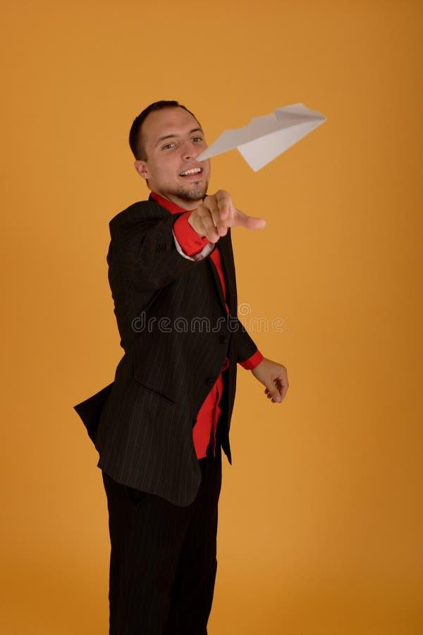 Playful business man royalty free stock photos
