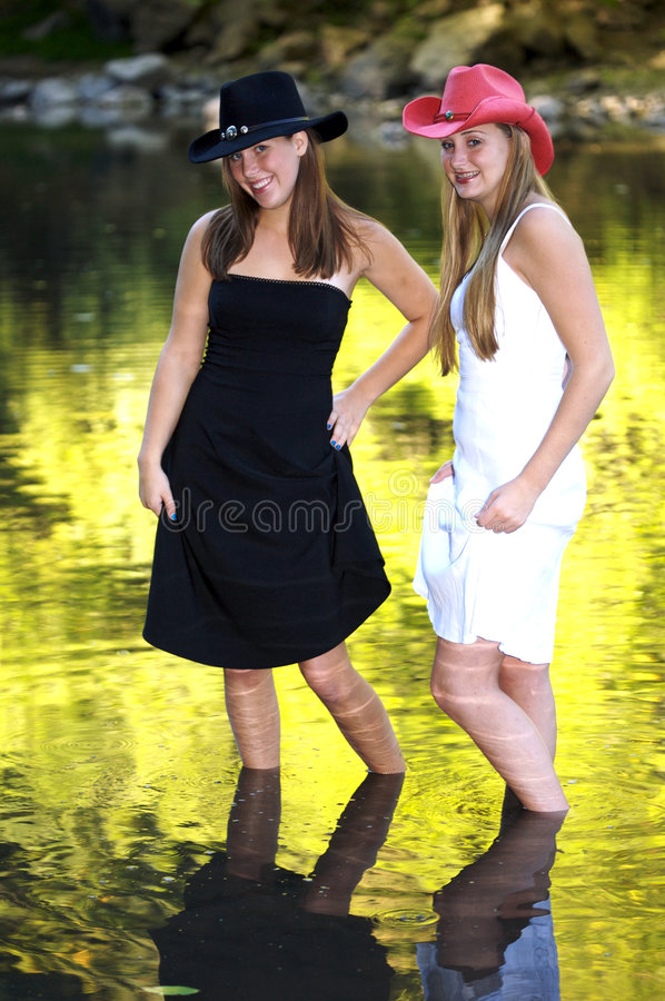 Download Playful Cowgirls stock image. Image of outdoors, teenager - 2418789