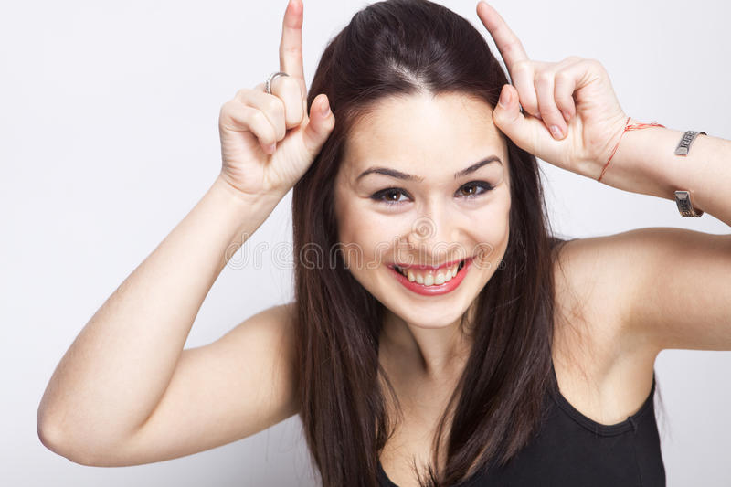 Download Playful Cute Woman Having Fun Stock Image - Image of playful, silly: 19261249