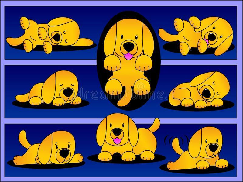 Download Playful Labrador Pup. stock vector. Illustration of adorable - 34621683