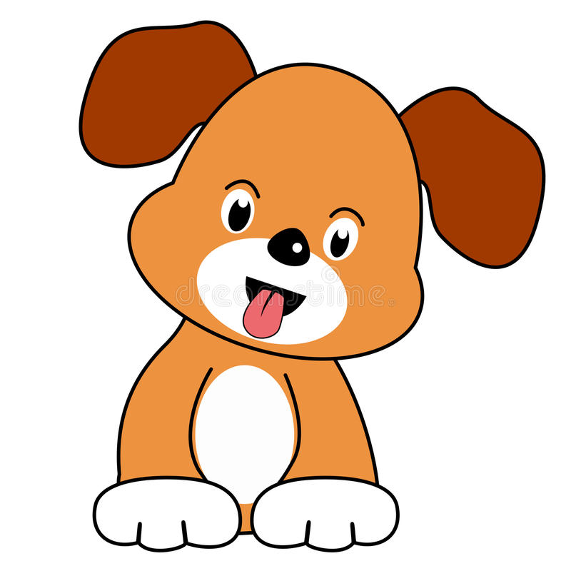 Download Playful puppy stock vector. Image of clipart, cheerful - 12215049