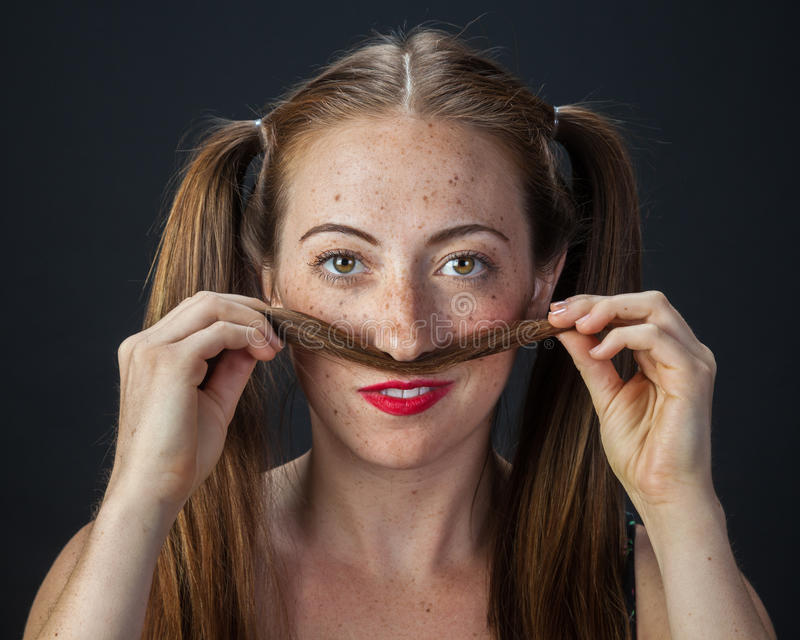 Playful Redhead royalty free stock images