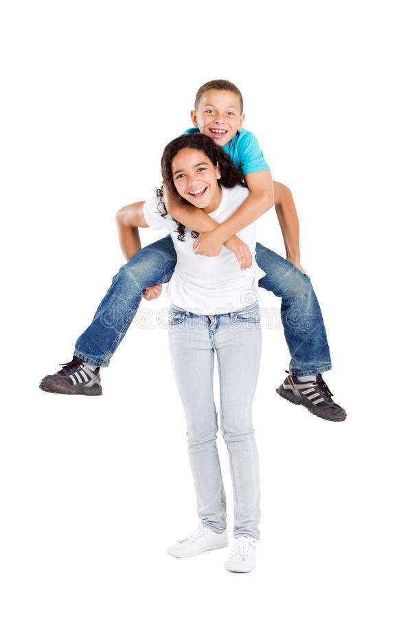 Download Playful Siblings stock image. Image of happy, casual - 16842137