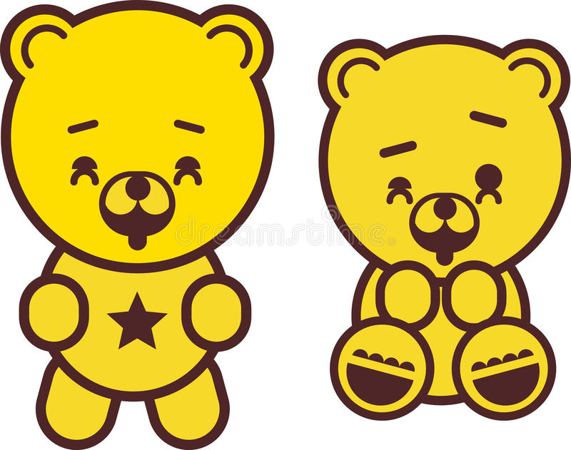 Download Playful teddy bear stock vector. Image of small, image - 10376090