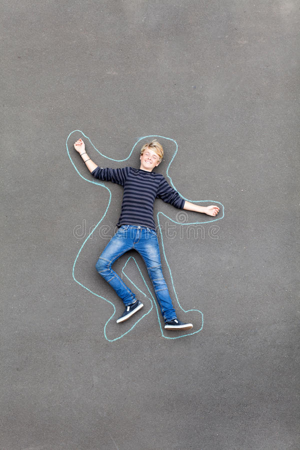 Playful teen boy stock images