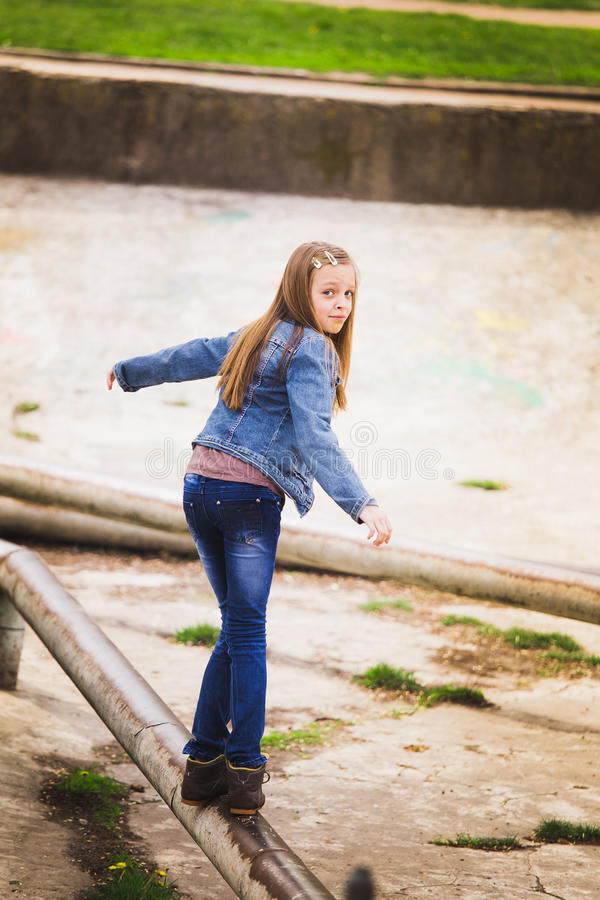 Playful teenage girl portrait royalty free stock photo
