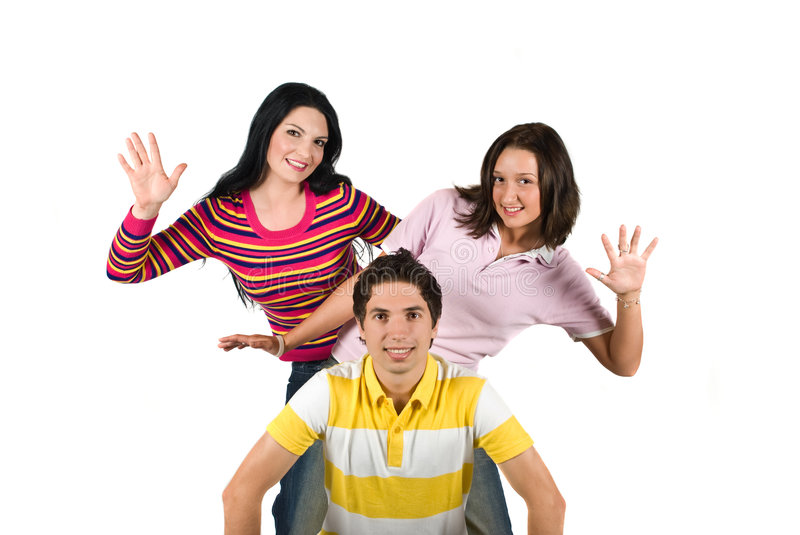 Playful Teenagers Royalty Free Stock Photography