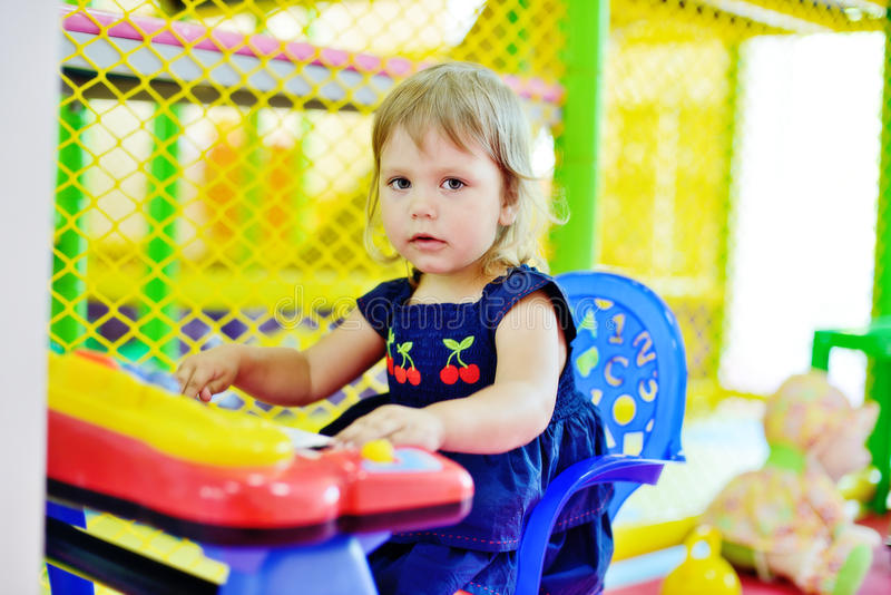 Playful toddler stock image