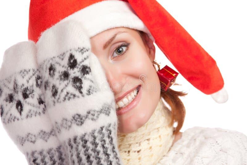 Playful Young Christmas Girl Stock Photo