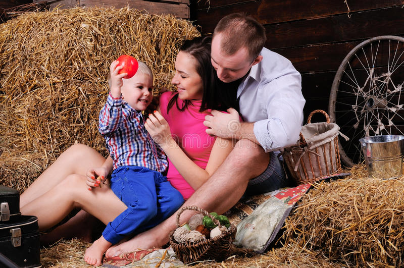 Playful Young Family Royalty Free Stock Photo