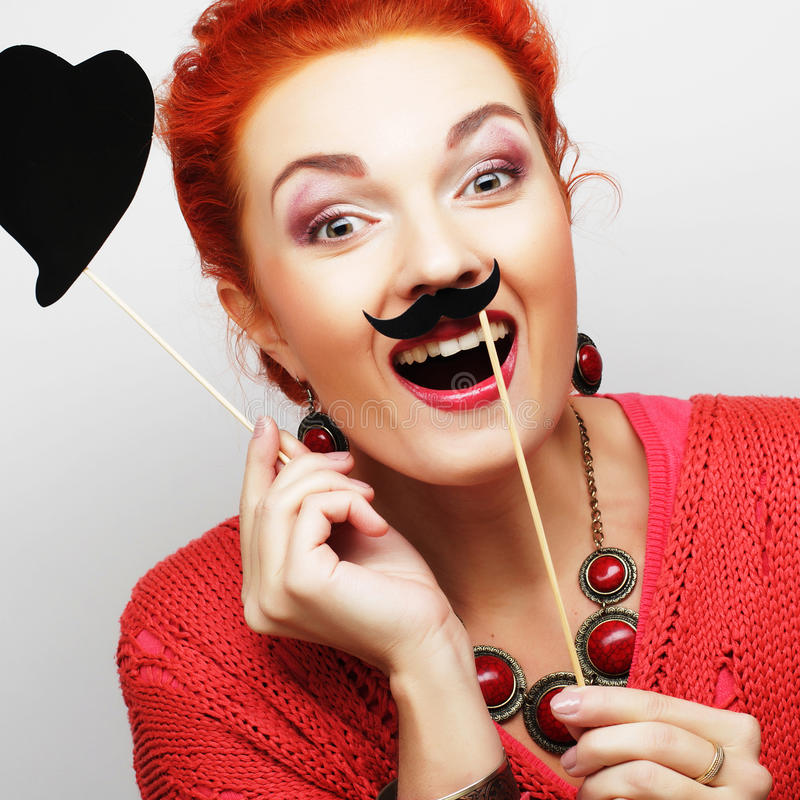 playful young woman ready for party royalty free stock images
