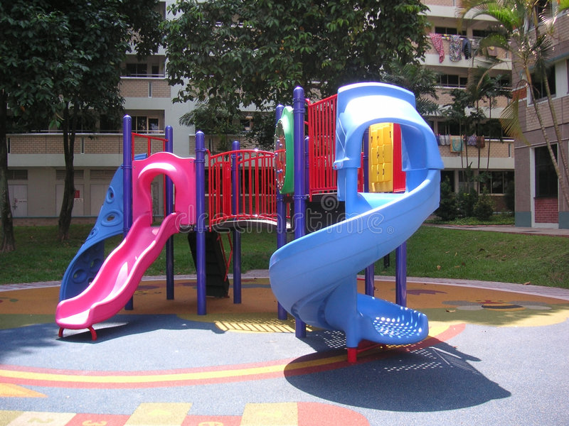 Download Playground stock photo. Image of slide, toys, kids, residential - 110546