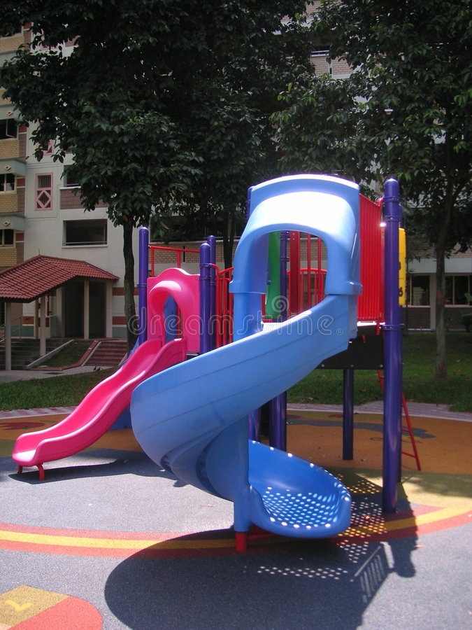 Download Playground stock photo. Image of pink, slide, bright, playset - 110558