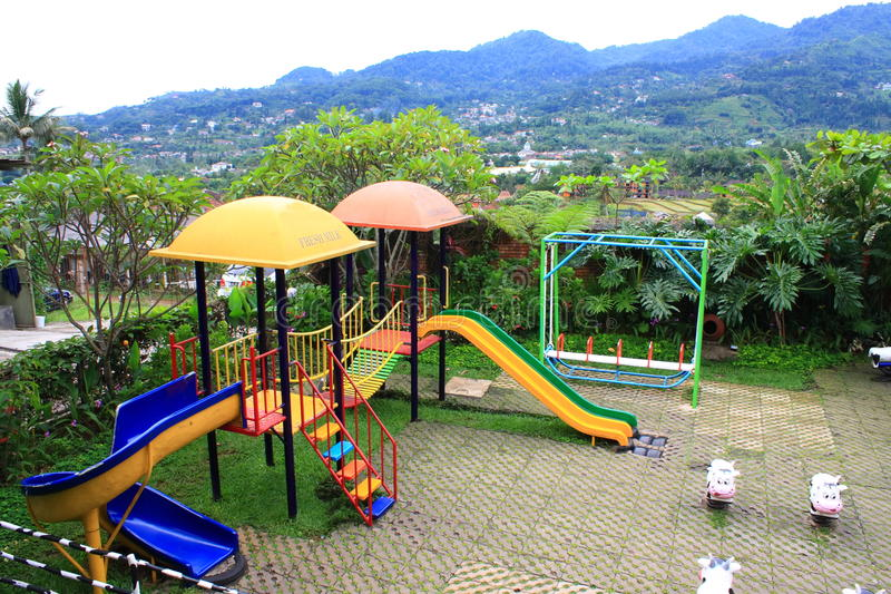 Download Playground stock photo. Image of bright, trees, slide - 15210550