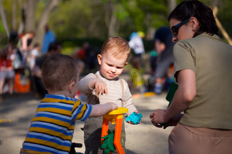 Download On the Playground stock photo. Image of spring, parent - 2374744