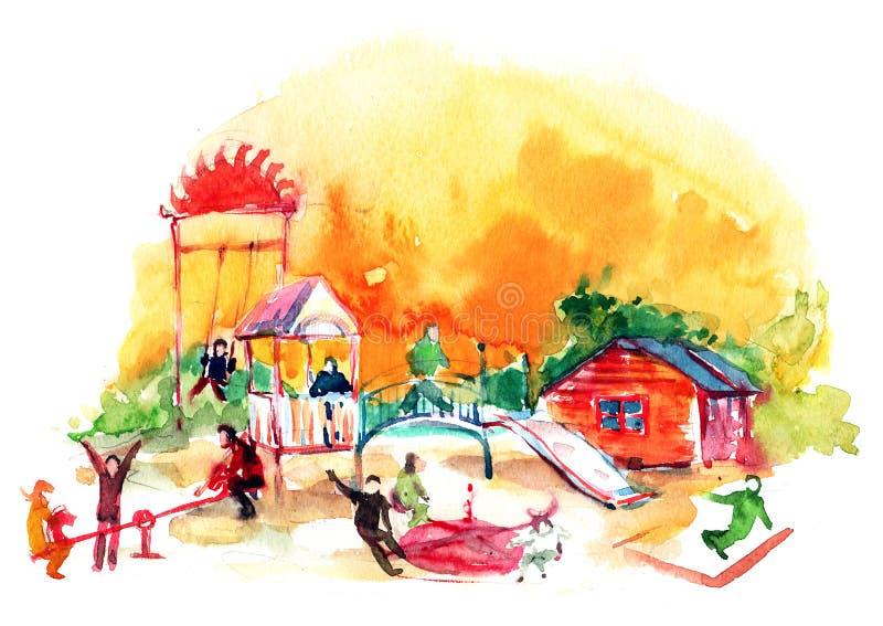 Download Playground stock illustration. Image of lifestyles, girl - 23919338