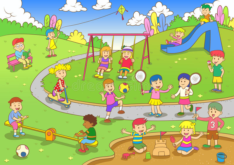 playground illustrazione di stock