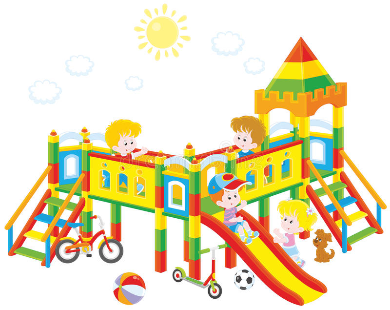 playground illustration stock