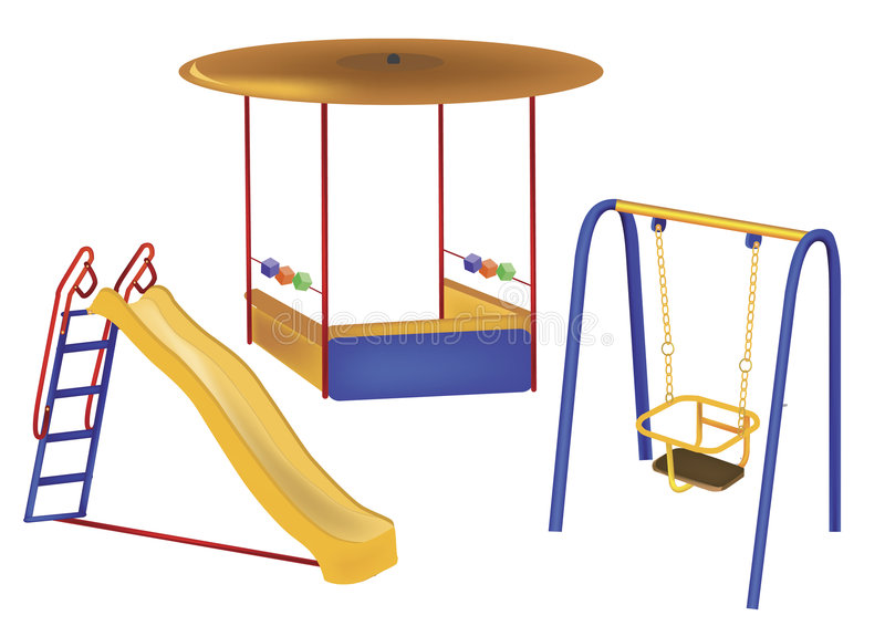 Download Playground stock vector. Image of fair, infants, outdoors - 9178999
