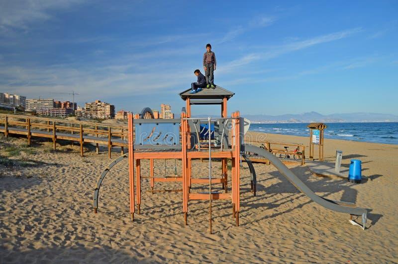 Playground On The Beach royalty free stock image