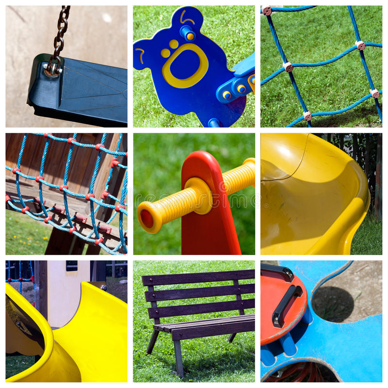Download Playground collage stock photo. Image of climbing, kids - 25889180