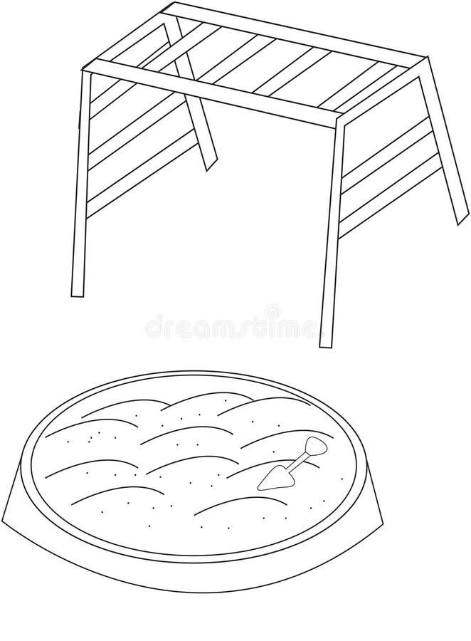 playground coloring pages - playground coloring page stock illustration illustration