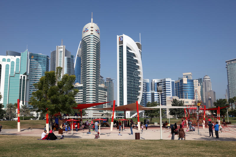 Download Playground In Doha Downtown Editorial Stock Image - Image of buildings, arabia: 23003444
