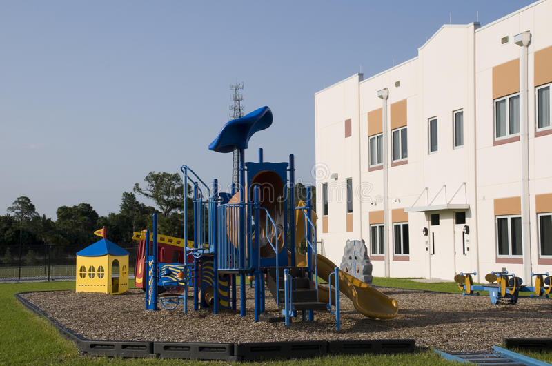 Download Playground At Elementary School Royalty Free Stock Image - Image: 14324886