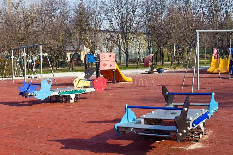 Playground equipment. For kids to have fun playing on royalty free stock photography