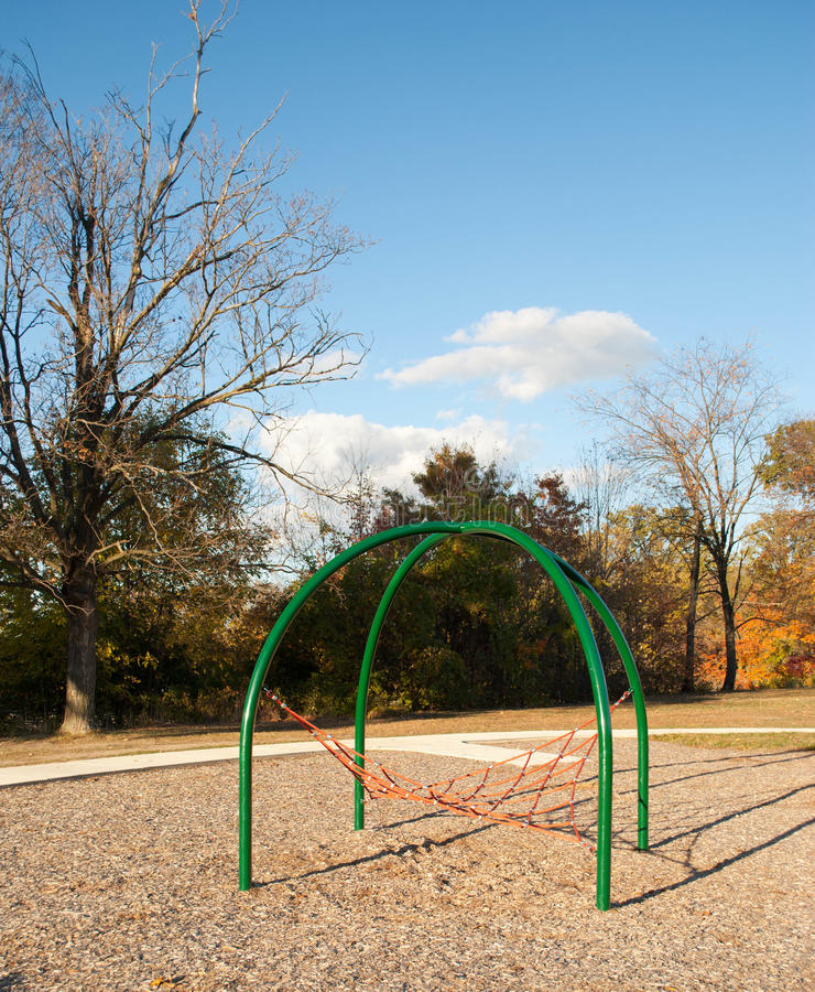 Playground Equipment. On a fall afternoon royalty free stock photo