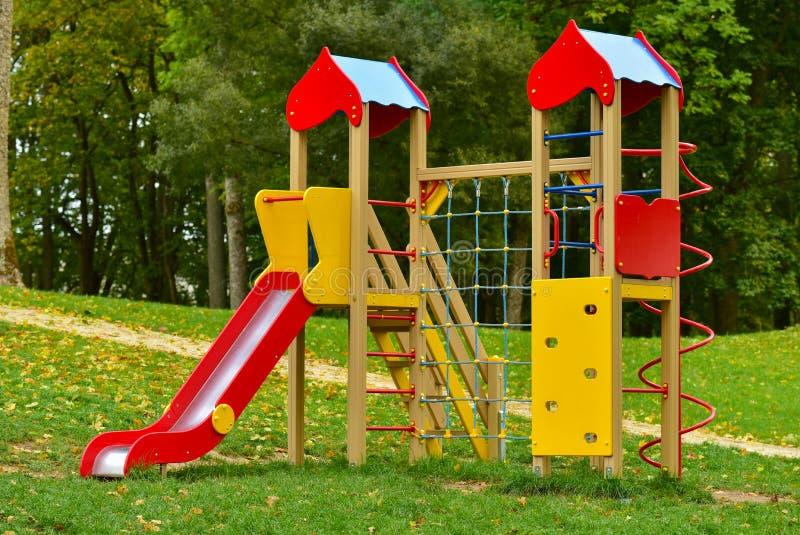 Playground equipment stock images