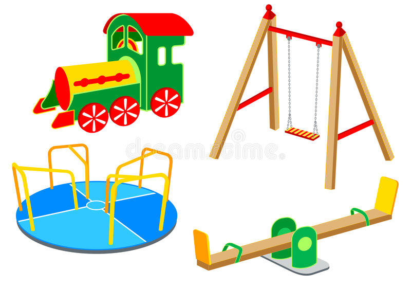Playground equipment | Set 1 stock illustration