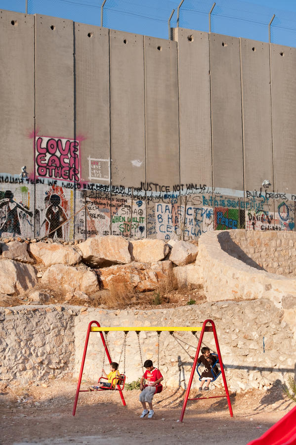 Playground and Israeli Separation Wall
