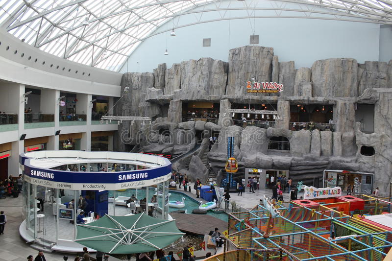 Samsung Point And Playground In Mall Editorial Photo