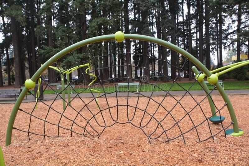 A playground net in Shute Park, Hillsboro, Oregon. This is a playground net in Shute Park in Hillsboro, Oregon royalty free stock photos