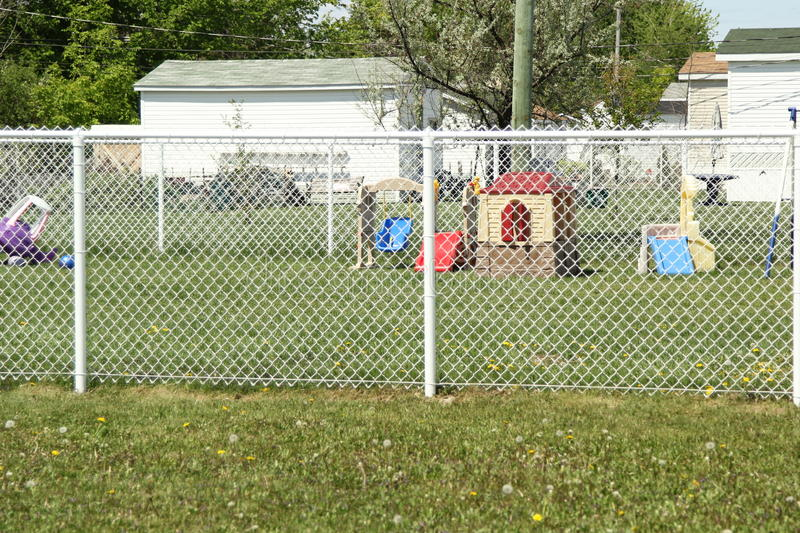Download Playground Outside The Fence Stock Photo - Image: 31090744