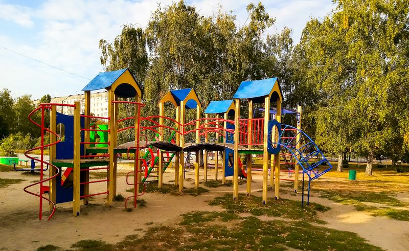Playground Park immagine stock libera da diritti