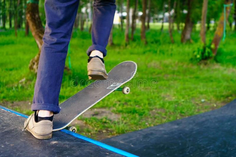 playground for practicing skateboarding royalty free stock photo