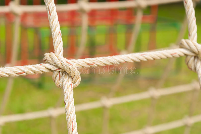 Playground rope,Climbing Nets in playground. Concept for content or article royalty free stock photos