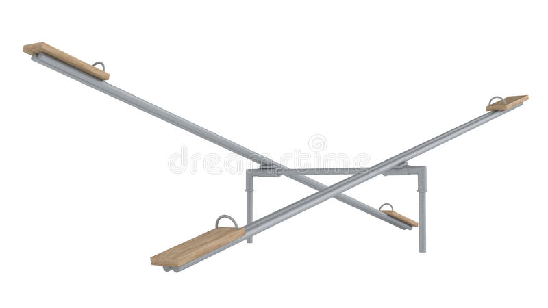 Download Playground Seesaw Or Teetertotter Stock Illustration - Image: 26752110