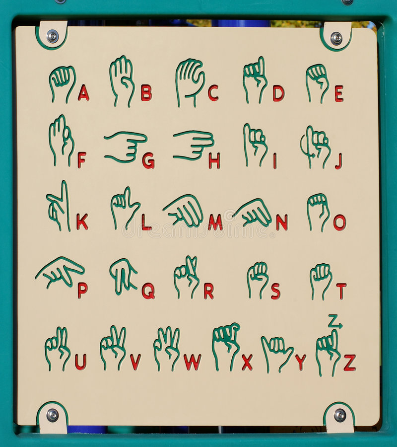 Playground Sign Language royalty free stock photos