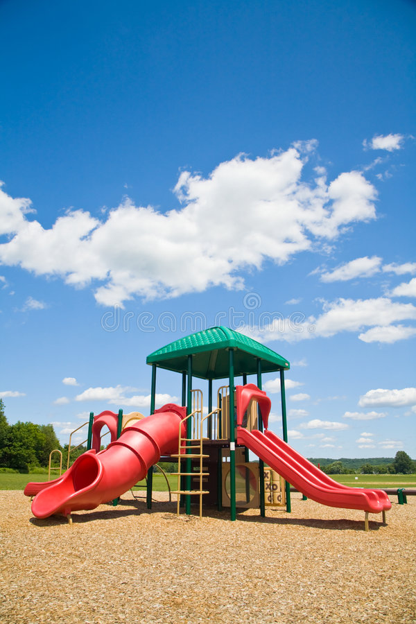 Playground in a Sunny Day stock images
