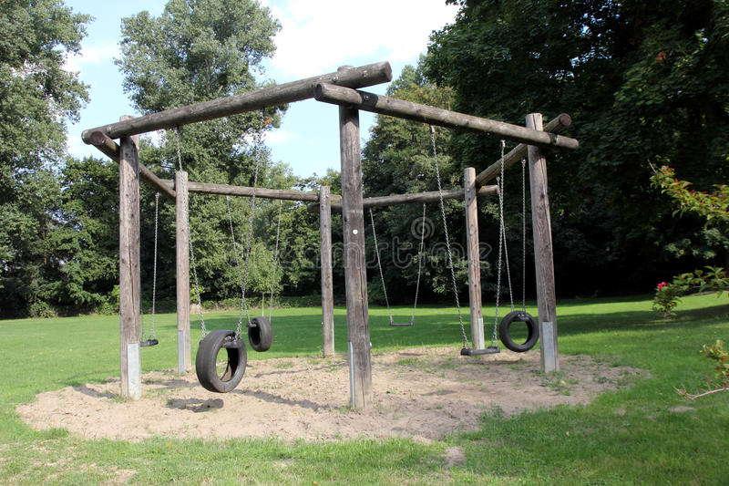 Download Playground swing stock image. Image of childhood, nature - 33969941