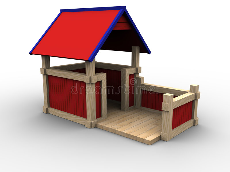 Download Playhouse 05 stock illustration. Illustration of outside - 951835