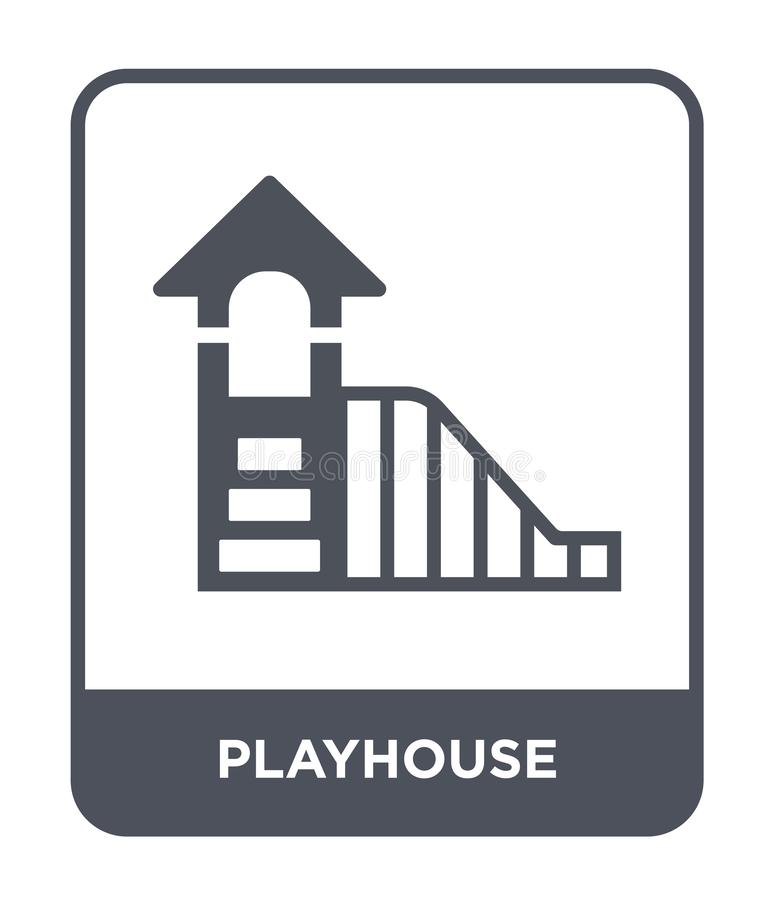 Playhouse icon in trendy design style. playhouse icon isolated on white background. playhouse vector icon simple and modern flat. Symbol for web site, mobile stock illustration