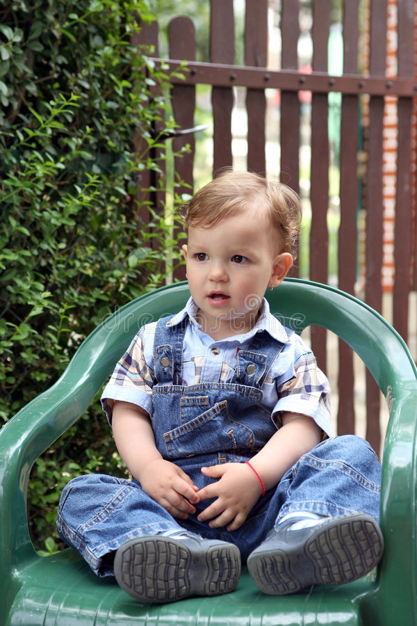 Download Playing stock photo. Image of infant, sitting, child, garden - 8718826