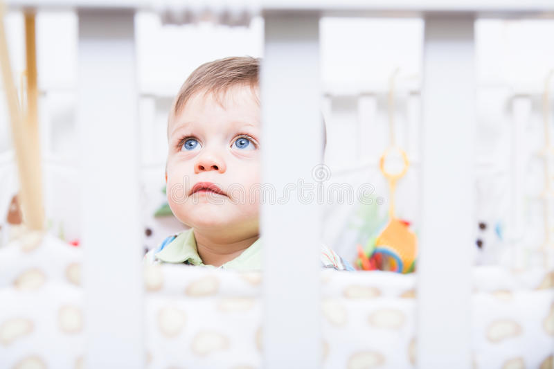 Playing baby stock photo