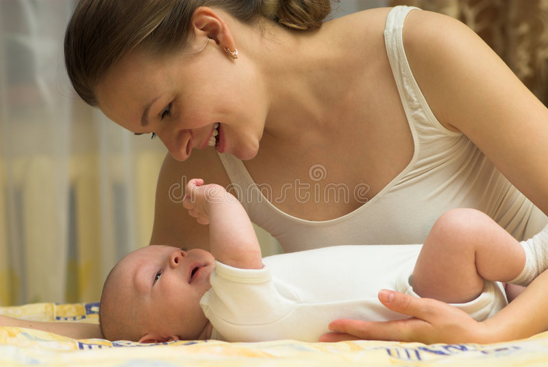Download Playing with baby stock image. Image of infant, emotion - 6762661